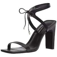 Nine West Women's Longitano Leather Heeled Sandal - 10