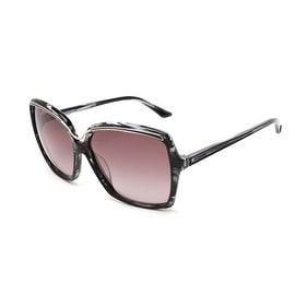 Missoni Women's Metallic Brow Oversized Sunglasses Black/Ivory - Small