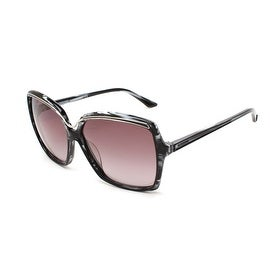 Missoni Women's Metallic Brow Oversized Sunglasses Black/Ivory - Clear - Small