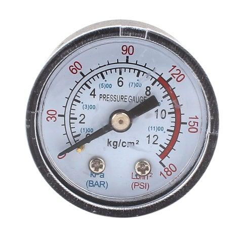 Unique Bargains Air Liquid Pressure Measuring Gauge 0-180PSI 0-12BAR 1/8PT Threaded