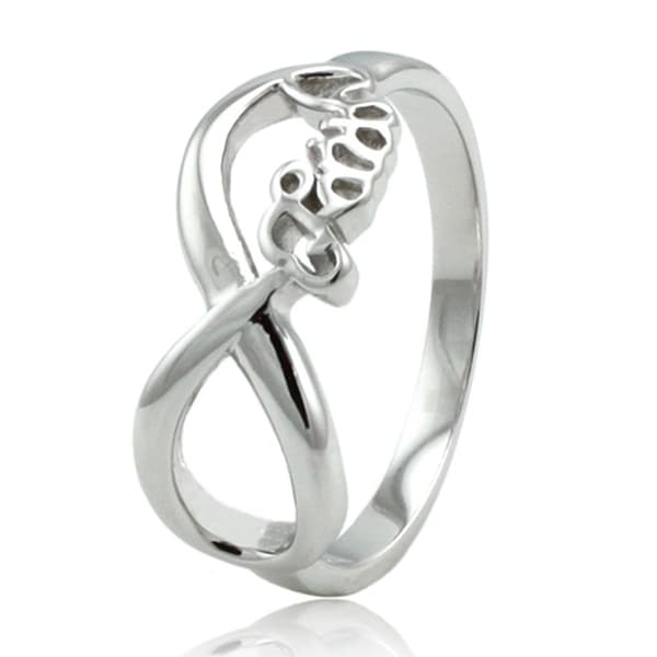 Sterling Silver Infinity Faith Ring