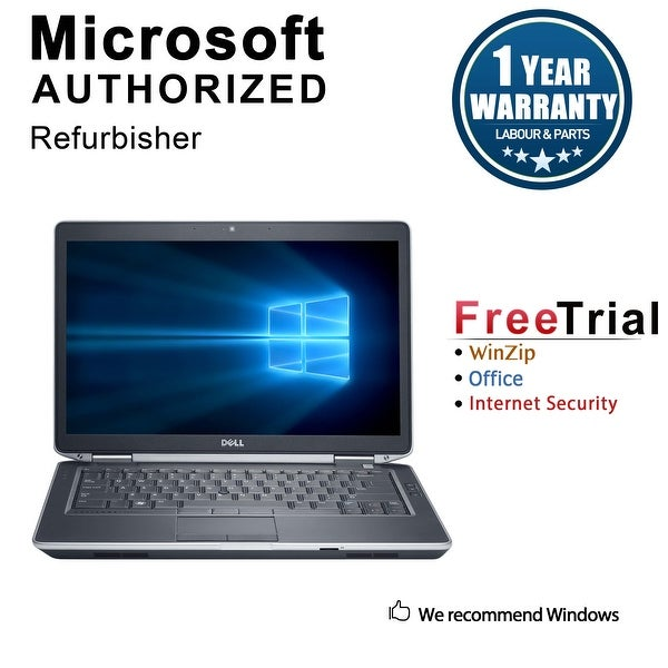 "Refurbished Dell Latitude E6430 14.0"" Laptop Intel Core i5 3320M 2.6G 12G DDR3 120G SSD DVD Win 10 Pro 1 Year Warranty - Black"