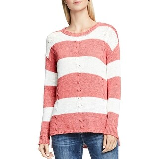 Two by Vince Camuto Womens Pullover Sweater Cable Knit Long Sleeves