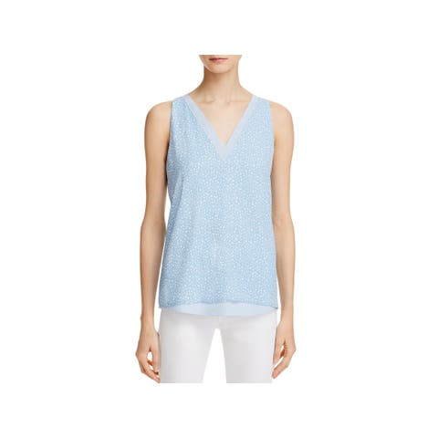 Cooper & Ella Womens Tank Top Star Print Layered