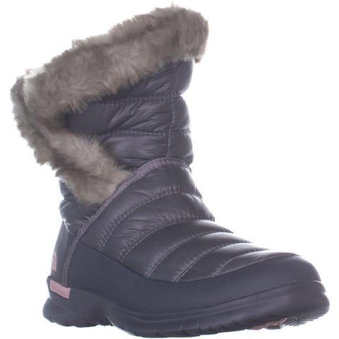 The North Face Thermoball Micro-Baffle Winter Booties, Shiny Frost Grey/Evening Sand Pink