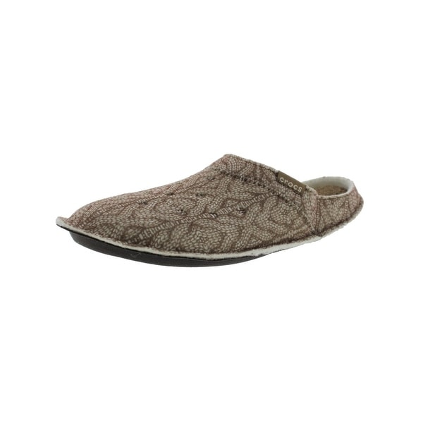Shop Crocs Mens Classic Mule Slippers Cable Knit Roomy Fit Free