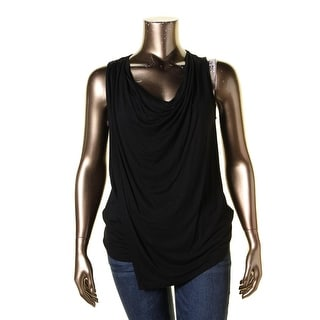 Lauren Ralph Lauren Womens Tank Top Faux Wrap Cowl Neck
