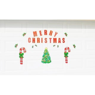 Merry Christmas Candy Cane, Tree and Holly Magnetic Door Decorations
