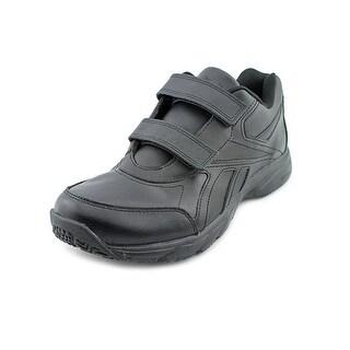 Reebok Work N Cushion KC Round Toe Leather Sneakers