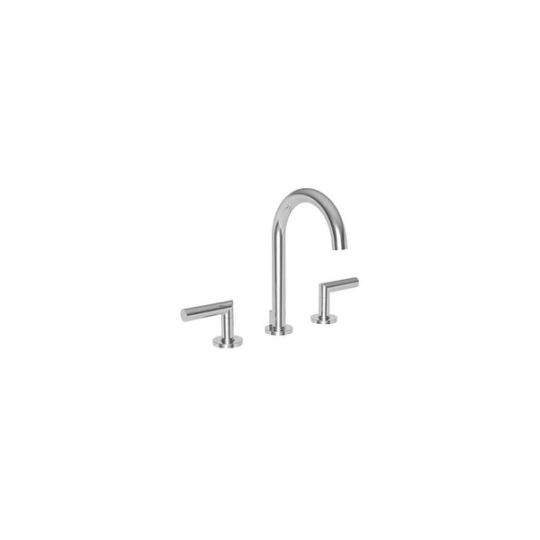 Newport Brass 3100 Pavani 1.2 GPM Double Handle Widespread Bathroom Faucet with Metal Lever Handles - Polished Chrome