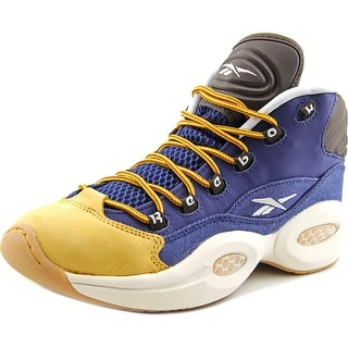 Reebok Question Mid Boy Blue/Stucco/Brwn/Gold Athletic Shoes