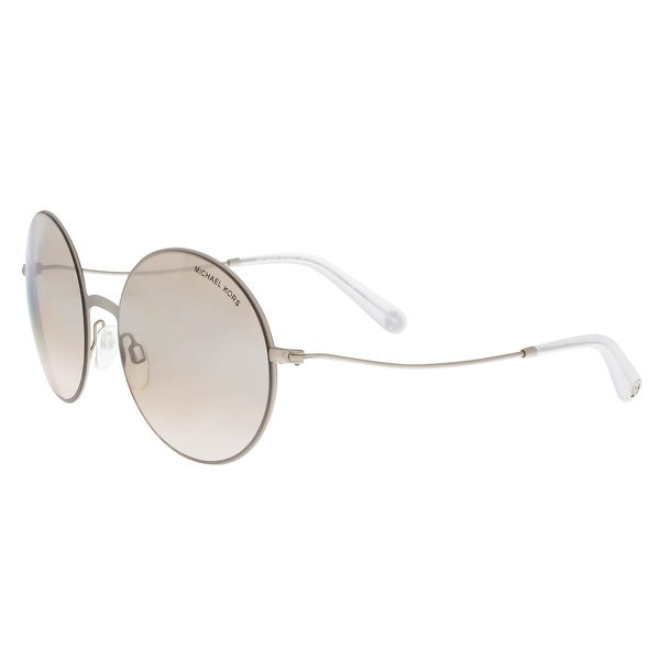 391c3260f1 Michael Kors MK5017 11398Z Kendall II Silver Clear Aviator Sunglasses - 55- 19-