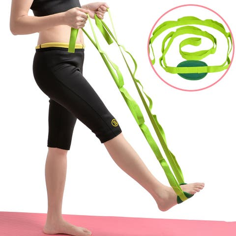 "Image Yoga Stretch Out Strap Assist Exercise Fitness Band 85"" - SIZE"
