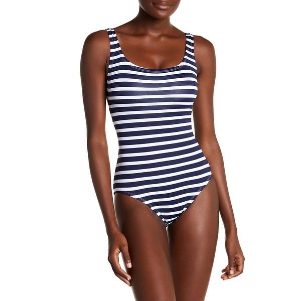 0e6fb9642e9 Shop Tommy Bahama Blue Women s Size 4 Striped One-Piece Swimwear ...