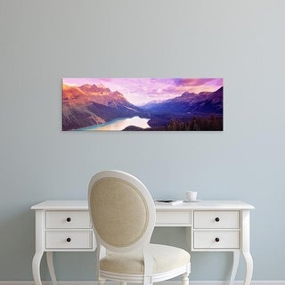 Easy Art Prints Panoramic Images's 'Peyto Lake, Alberta, Canada' Premium Canvas Art