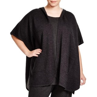 Eileen Fisher Womens Poncho Top Hooded Short Sleeve - o/s