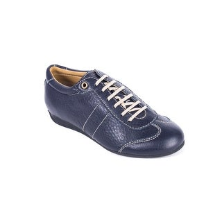 Car By Prada Shoe Blue Lace up Leather Sneakers