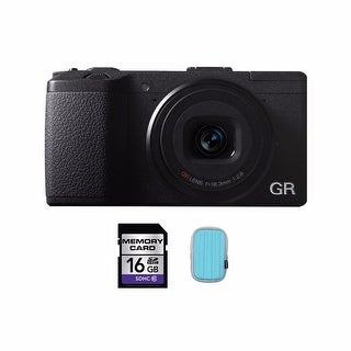 Ricoh GR Digital Camera with 16GB Card and Case Bundle