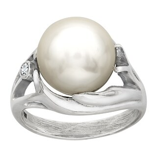 Van Kempen Victorian Pearl Ring with Swarovski Crystals in Sterling Silver