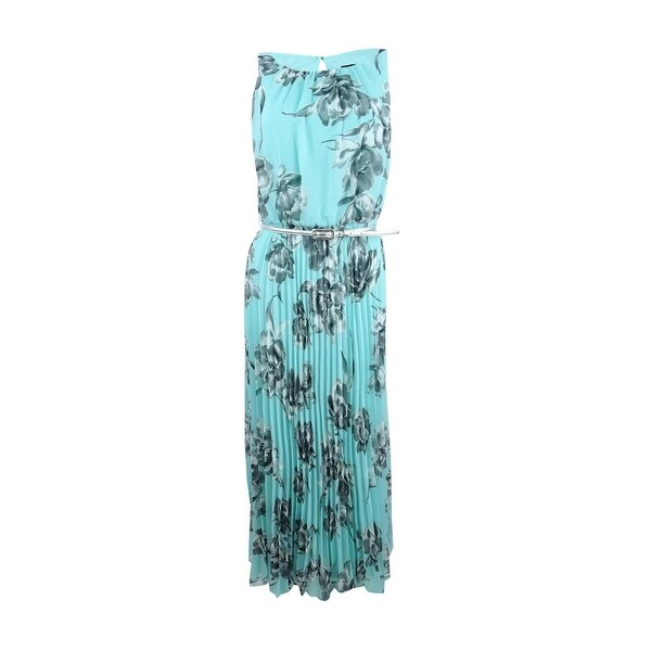 503a0af35e30d Shop Jessica Howard Women's Floral-Print Belted Dress - Mint - Free  Shipping Today - Overstock - 21474587
