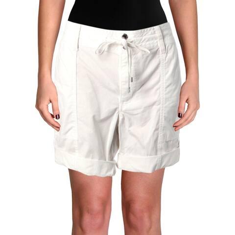 Lauren Ralph Lauren Womens Ficanti Convertible Shorts Mid Rise Casual