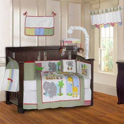 BabyFad Safari 10 Piece Baby Crib Bedding Set