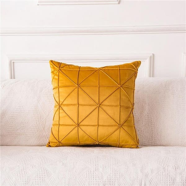 Velvet Square Throw Pillow Covers Solid Color Cushion Cases with Soft Touch