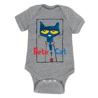 Pete The Cat  Frame With Button  - Infant One Piece
