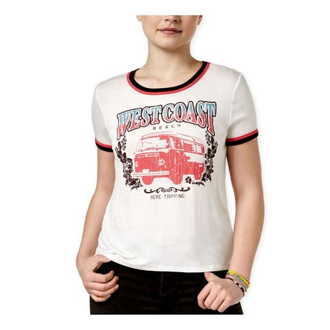 Rebellious One Womens West Coast Ringer Graphic T-Shirt