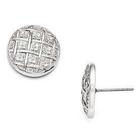Chisel Stainless Steel Polished Post Earrings
