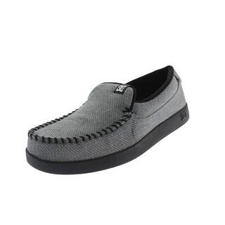DC Shoes Mens Villain TX Canvas Pattern Slip-On Shoes - 8 medium (d)