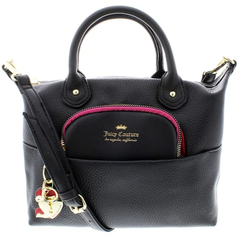 Juicy Couture Charm School Faux Leather Convertible Satchel Handbag - Small