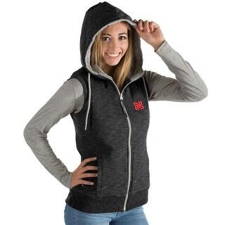 University of Nebraska Ladies Blitz Heather Jersey Hooded Vest