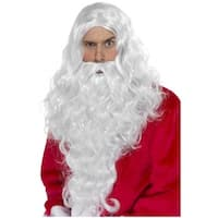 Long White Santa Wig & Beard Adult Costume Accessory