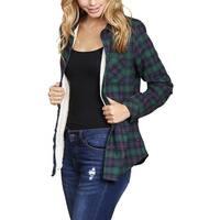 Riah Fashion's Button Down Sherpa Lined Flannel Shirt