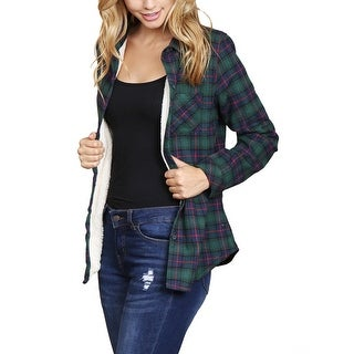 Riah Fashion's Button Down Sherpa Lined Flannel Shirt