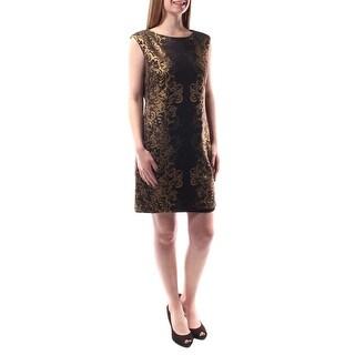 SANDRA DARREN $69 Womens 1555 1508 Black Ikat Shift Dress 8 B+B