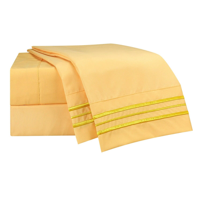 FULL Size Clara Clark 1800 Premium Bed Sheets 4-pieces Set White