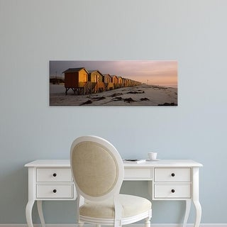 Easy Art Prints Panoramic Images's 'Huts, Muizenberg Beach, False Bay, Cape Town, Republic of South Africa' Canvas Art