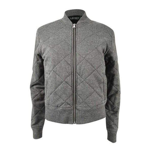 2a92825e54f Shop Lauren Ralph Lauren Women's Quilted Bomber Jacket (XS, Grey) - Grey -  XS - Free Shipping Today - Overstock - 24207052