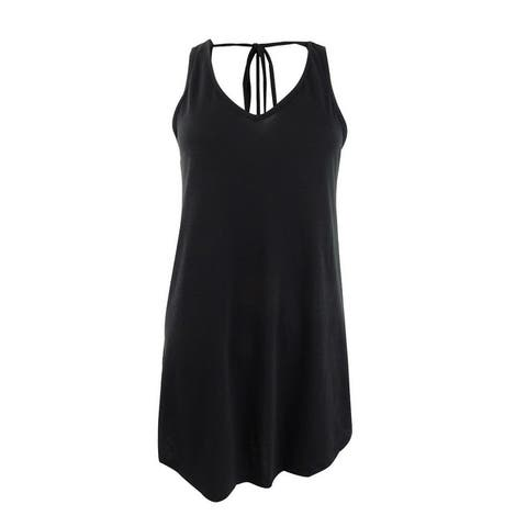 Miken Women's Tie-Back Cover-Up Dress Swim Cover-Up - Black