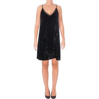 French Connection Womens Slip Dress Velvet Lace - 4