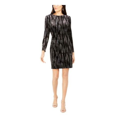 MSK Black Long Sleeve Short Dress 8