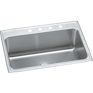"""Elkay DLR312210PD  Gourmet 31"""" Single Basin 18-Gauge Stainless Steel Kitchen Sink for Drop In Installations with SoundGuard"""