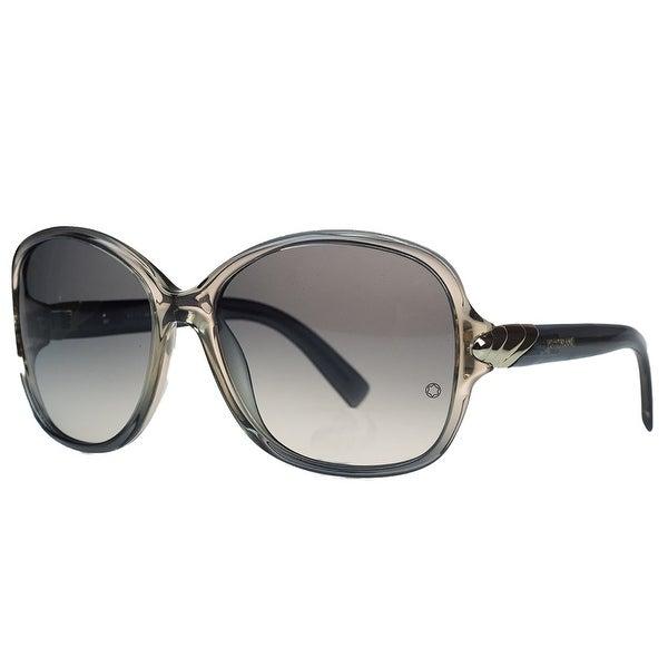 Montblanc MB412/S 20B Grey Square Sunglasses - 59mm-16mm-125mm