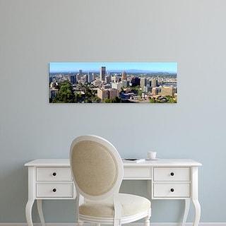 Easy Art Prints Panoramic Images's 'View of a cityscape, Portland, Multnomah County, Oregon, USA' Premium Canvas Art