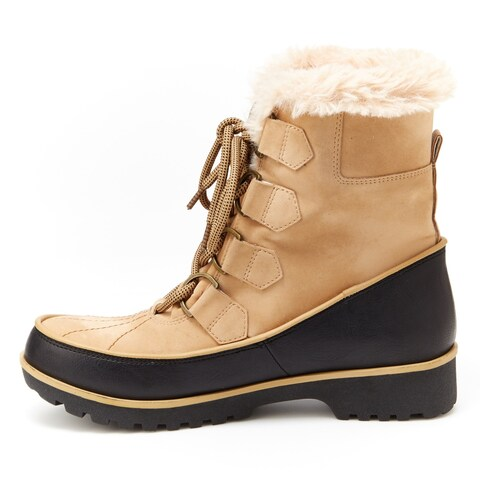 JBU Womens Bristol Round Toe Mid-Calf Cold Weather Boots