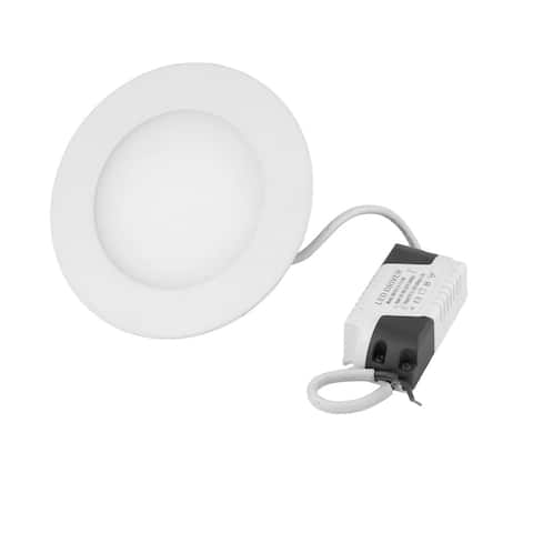 White 6W Round Home Dimmable LED Recessed Ceiling Panel Down Light AC100-265V