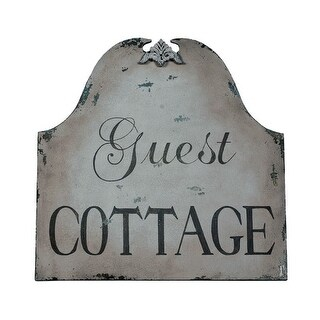 GuildMaster 161521 30 Inch x 30 Inch Guest Cottage Hand-Painted Wall Decor on Metal