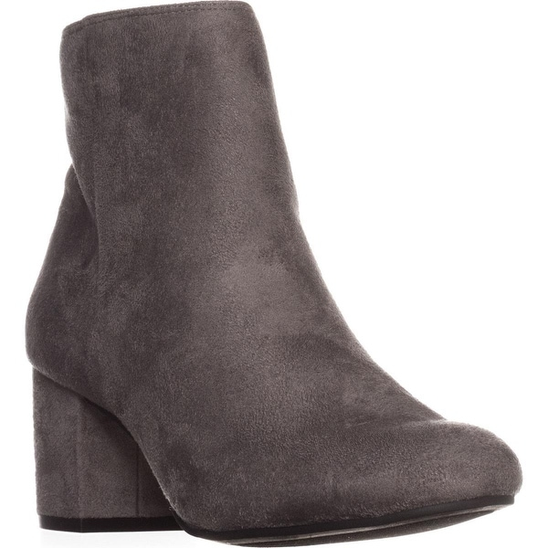 Rebel by Zigi Nanon Block-Heel Ankle Boots, Grey - 7 us